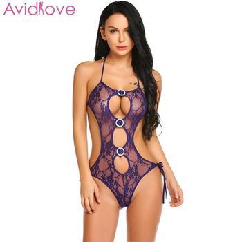 Avidlove Women Bodystocking Erotic Hot Body Suit Teddy Sexy Lingerie Sleepwear Lace Babydoll Bodysuit mujer lenceria femenina 4
