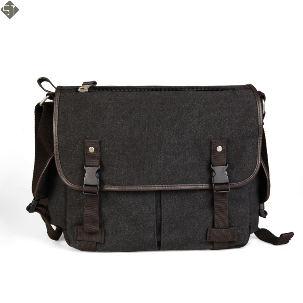 FUSHAN New Male Package Canvas Casual Men's Shoulder Bag Korean Student Bags Solid Messenger Bags Multifunctional Men Crossbody new high quality canvas bag male solid cover zipper casual shoulder school bags men crossbody bag men s messenger bags hqb2014