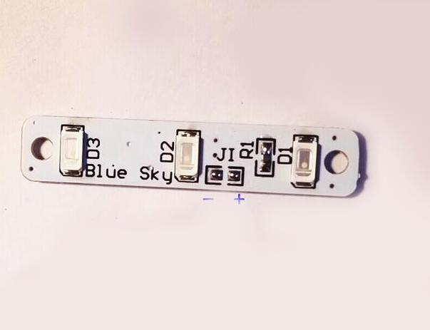 Бесплатная доставка 4 шт./лот голубое небо из светодиодов доска 3 из светодиодов полосы для FPV QAV250 белый красный-зеленый-синий