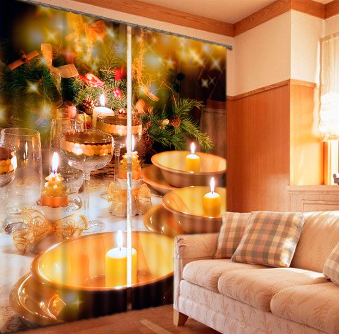 Custom size Candles Print Luxury 3d Curtains Drapes For Bed room Living room Window Curtains Office Hotel Wall Tapestry Custom size Candles Print Luxury 3d Curtains Drapes For Bed room Living room Window Curtains Office Hotel Wall Tapestry