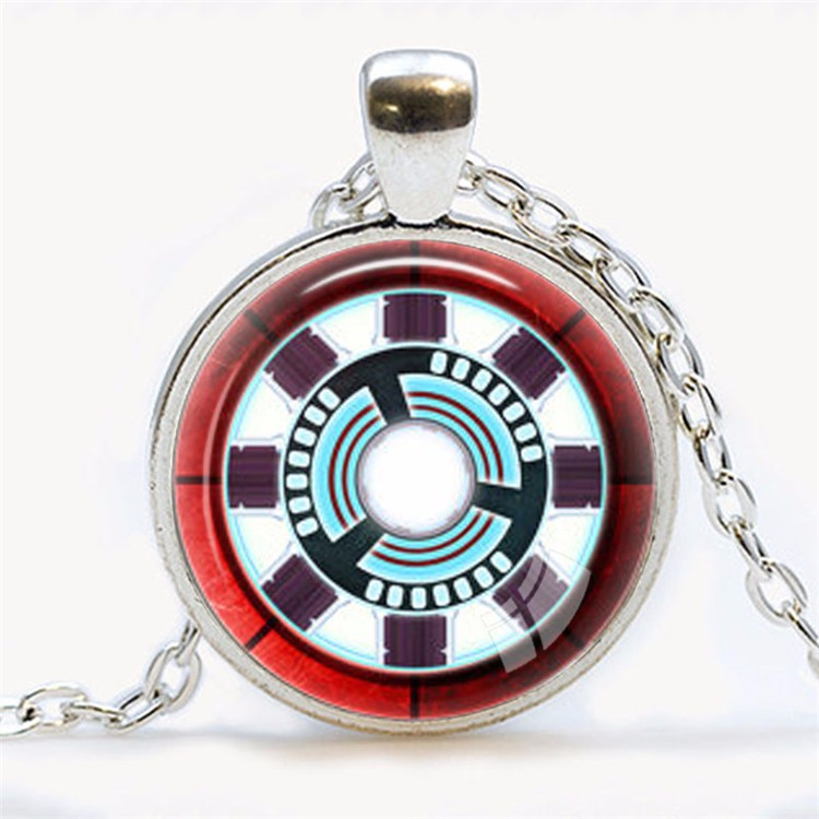 Awesome Iron Man Arc Reactor Necklace red