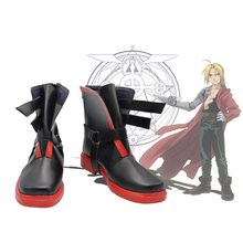 Fullmetal Alchemist Cosplay Shoes Anime Edward Elric Boots Shoes