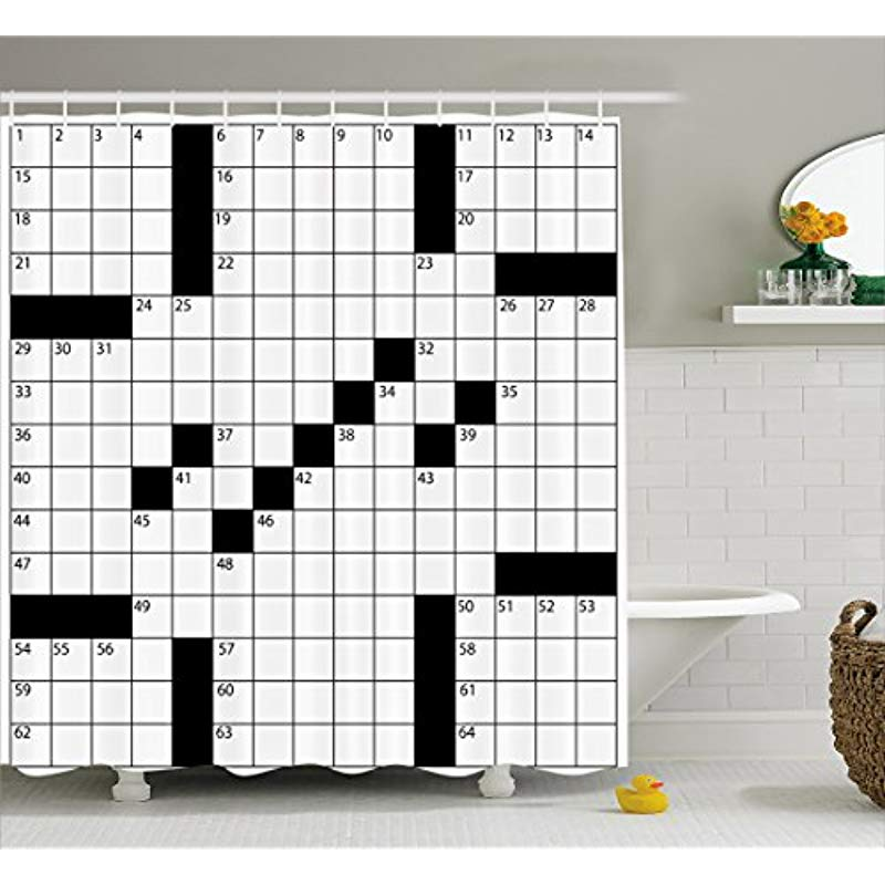 Vixm Word Search Puzzle Shower Curtain Blank Newspaper