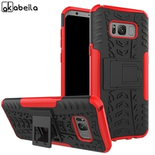 Silicone Cases For Samsung Galaxy S8 Plus Case Cover for Samsung Galaxy S8 Case Coque G950 G955 kickstand Housings PC and TPU цена и фото