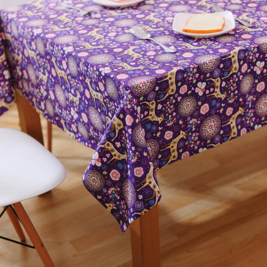 Purple Deer Tablecloths Fantasy Christmas Rectangle Table Cover For Party  Wedding Holiday Toalha De Mesa Nappe Manteles In Tablecloths From Home U0026  Garden On ...