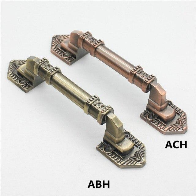300mm 250mm vintage zinc alloy wooden door handles antique bronze moving door pulls antique copper unfold install door handles