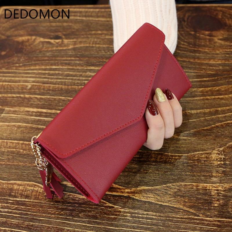 Women Wallets Long Wallets Leather Purse Zipper Wallet Coin Women Money Bag Lady Luxury Brand Female Card Holder Clutch Purses