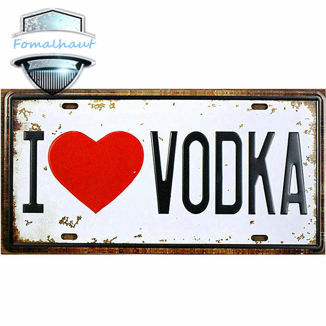 Vintage Car Plate \ I LOVE VODKA\  Wall Art Craft Vintage Metal Signs for Bar  sc 1 st  AliExpress.com & Vintage Car Plate \