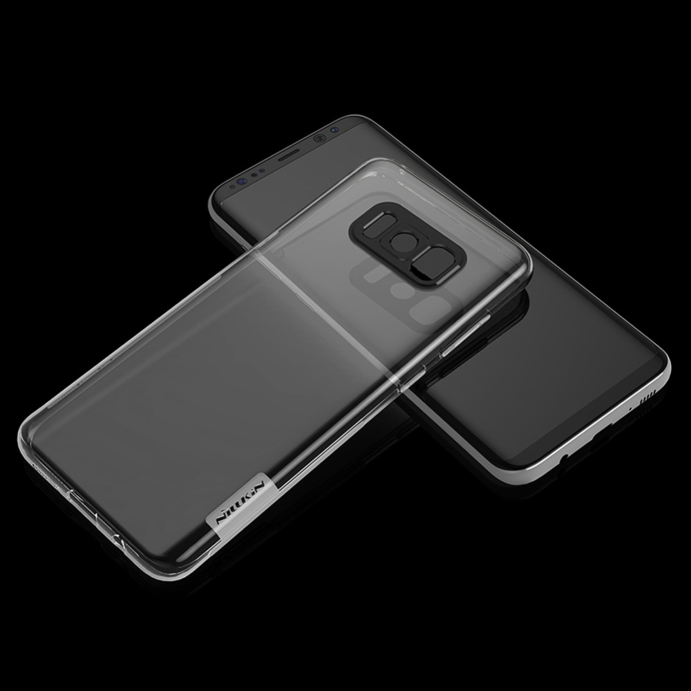 Case For Samsung Galaxy S 8 /S8 Plus S8+, Nillkin Transparent Crystal Clear Soft Rubber Silicone TPU Case Cove Shell Protective