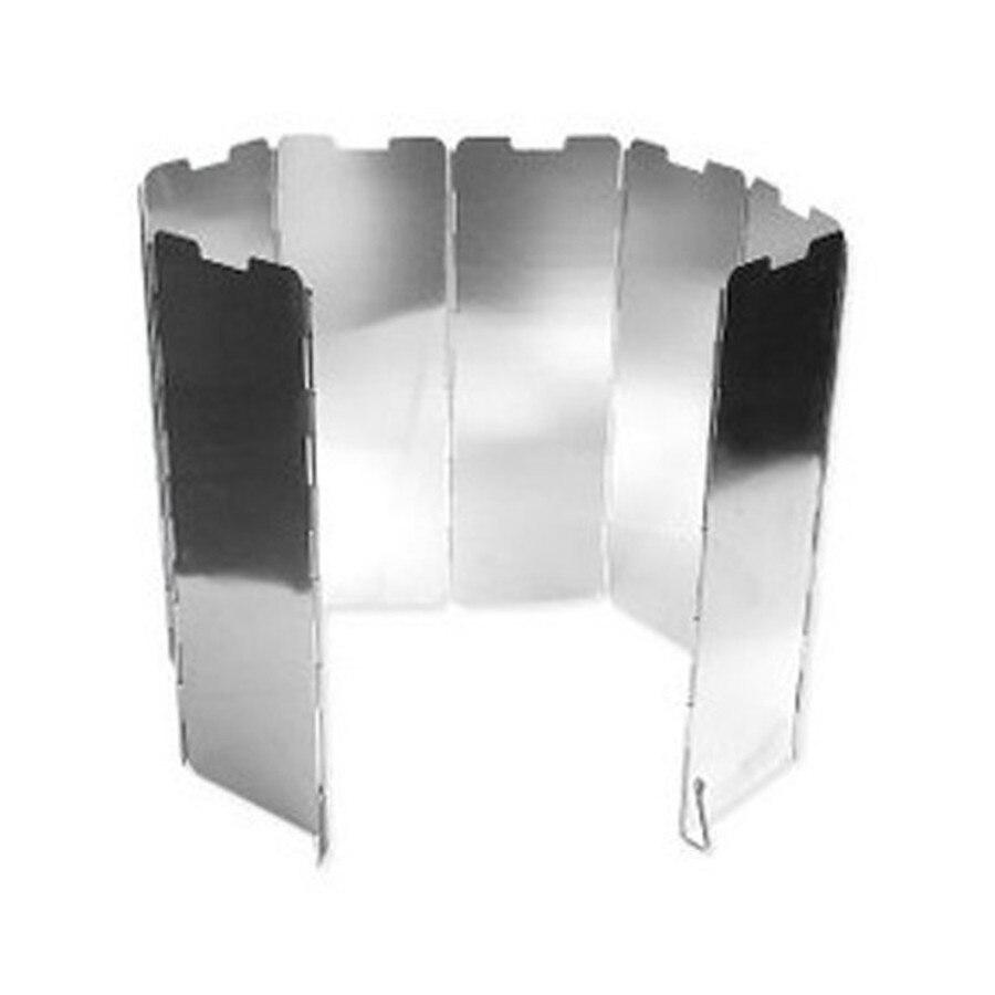 AOTU 8 Таблички открытый Алюминий Портативный складной плита Плита Кемпинг лобовое стекло Пикник winderscreen дефлектор ветра