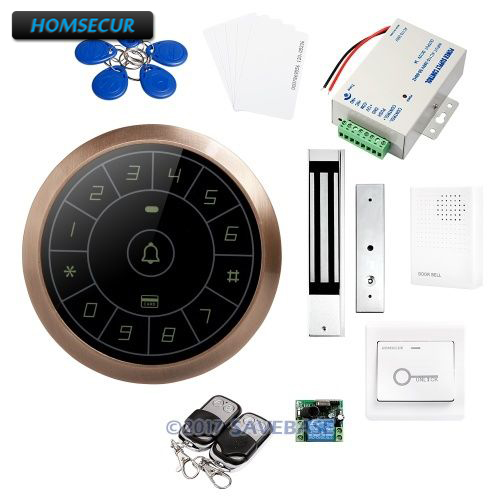 HOMSECUR DIY Access Control System with Waterproof 280KG Magnetic Lock + 2 Remote Controls + HOMSECUR Exit Button все цены