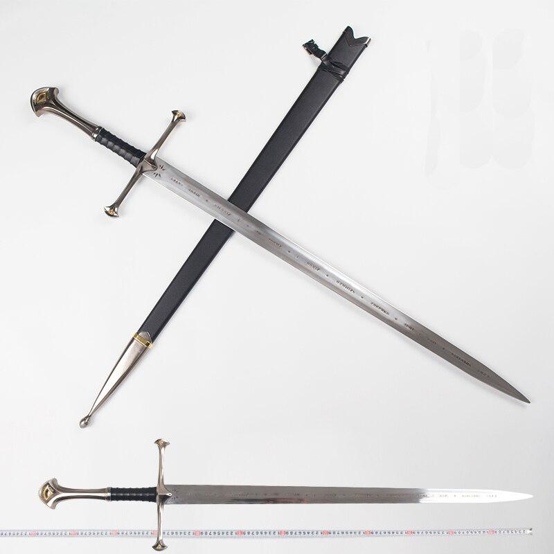Il signore degli Anelli Aragorn II Narthil Spada Lunga lunghezza 132 cm peso 2.6 kg In acciaio inox decorazioni per la casa