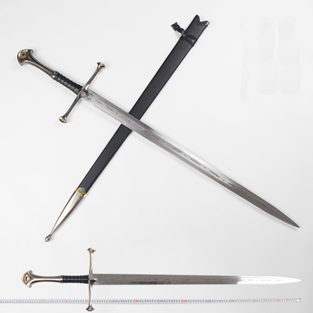 O senhor dos Anéis Aragorn II Narthil Espada Longa comprimento 132 centímetros 2.6 kg de peso de aço Inoxidável decoração da sua casa