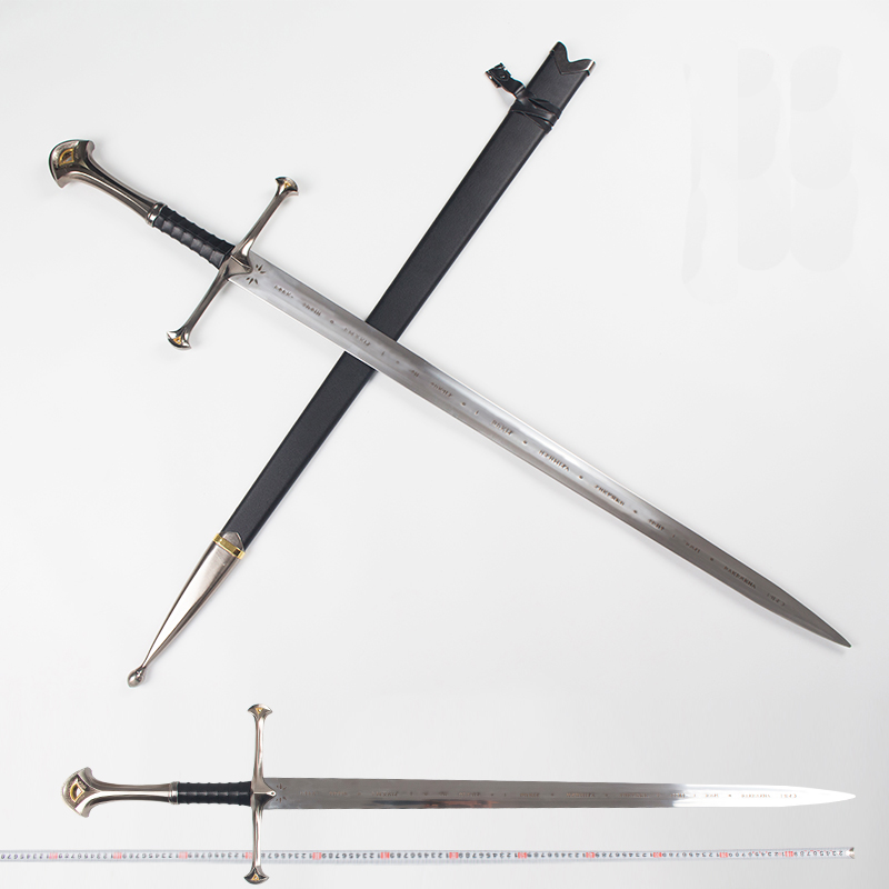Seigneur des anneaux Aragorn II Narthil longue épée longueur 132 cm poids 2.6 kg acier inoxydable décor à la maison