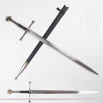 Senhor dos anéis aragorn ii narthil longa espada comprimento 132cm peso 2.6kg de aço inoxidável decoração da casa