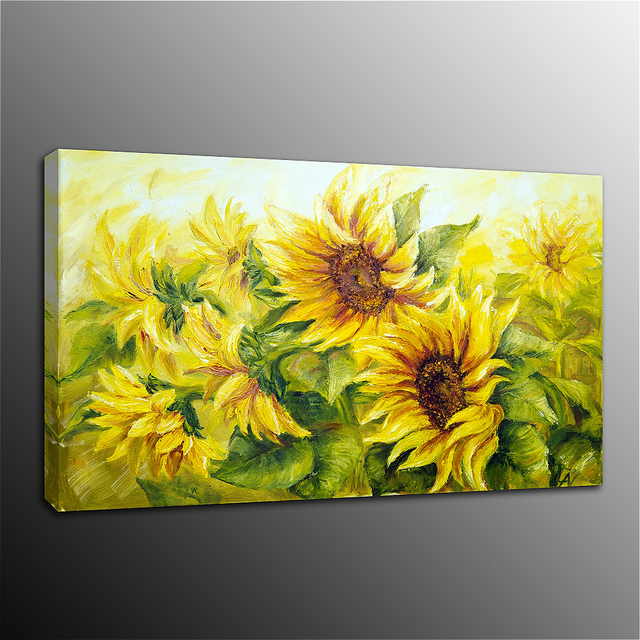 Flower Canvas Painting Wall Art Picture Print Sunflower Poster For Dining Room Kitchen Decor Home Dropship