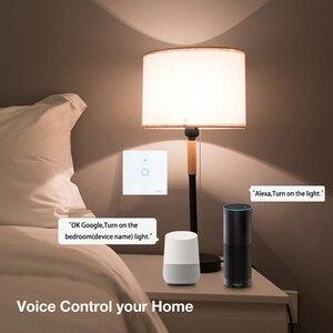 Image 4 - Interruptor de luz de pared inteligente SESOO Wifi 1 Gang aplicación remota hogar inteligente cambio de trabajo táctil de pared con Alexa / Google Home