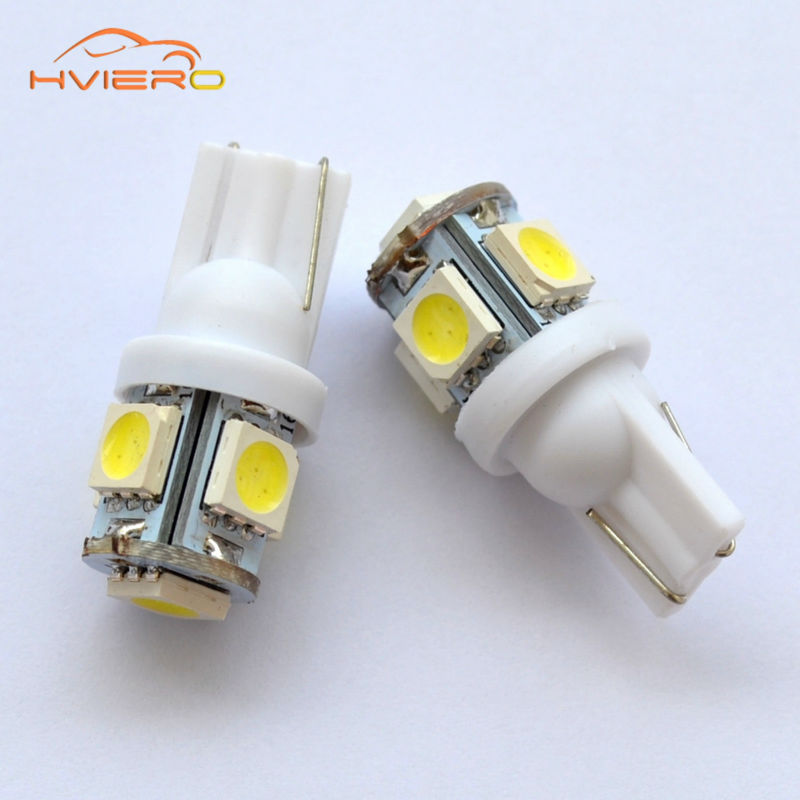 100Pcs White Red Blue Pink Yellow Green T10 5050 Wedge 5SMD 5 smd Car LED Light bulbs W5W 2825 158 192 168 194 Bulb Lamp DC 12V carprie car light 5pcs 10pcs t10 wedge 5 smd 5050 xenon led light bulbs 168 194 w5w 2825 158 fog white yellow light lamp bulb