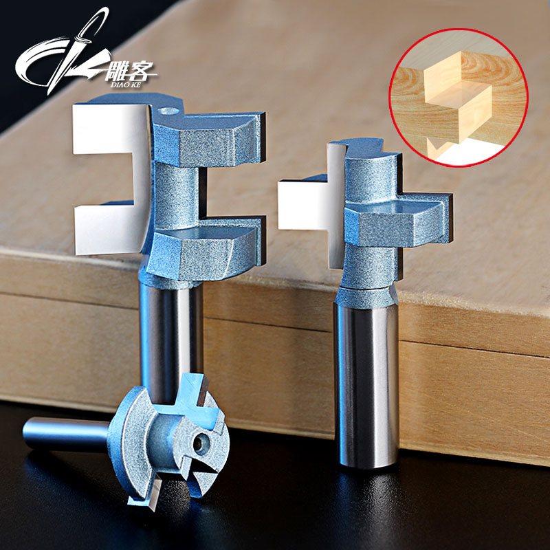2pcs/set Woodworking Tools Tongue & Groove Router Bits 1/2Shank 2pcs tongue