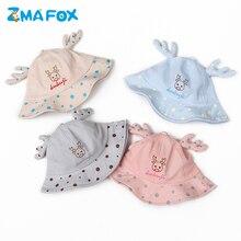 ZMAFOX 2019 spring baby boy cotton fisherman bucket hat cute kids caps summer children sunscreen foldaway hats polka dot beret
