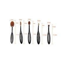 5 Pcs Foundation Beauty Eyeshadow Makeup Brushes Set Kit