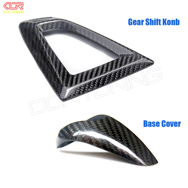 Carbon fiber Gear Shift Konb & Base Cover For BMW M2 F87 M3 F80 M4 F82 F83 Gear Surround Cover interior trim