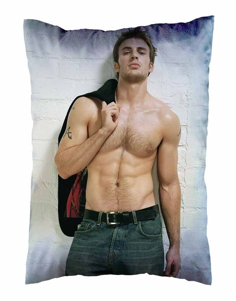 Hot The Avengers Chris Evans Pillow Case Cover Shirtless