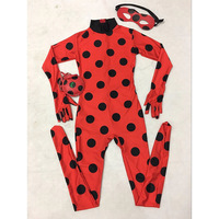Girls The Miraculous Ladybug Costume Halloween Costume For Kids Marinette Cat Noir Cosplay Costume Full Body