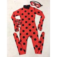 Girls The Miraculous Ladybug Costume Halloween Costume For Kids Marinette Cat Noir Cosplay Costume Full Body