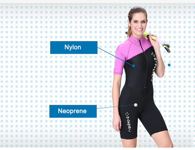 Dive&Sail Neoprene wetsuit Couple dive skin suit body suit long/short sleeve one piece for skin diving rashguard