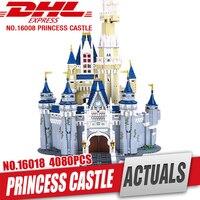 Лепин 16008 Золушка Принцесса замок город модель образования строительных блоков малыш игрушки Совместимость Legom 71040 для детей подарок