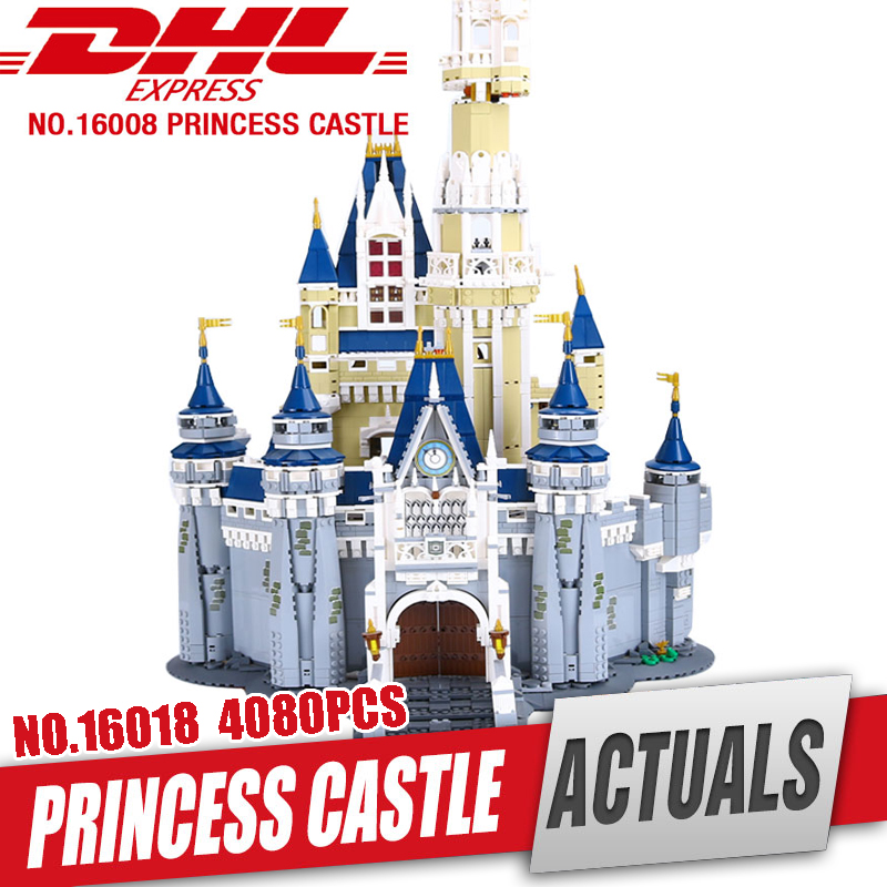 LEPIN 16008 Cinderella Princess Castle City Model Educational Building Block Kid Toys Compatible Legom 71040 for children gift gudi block city large passenger plane airplane block assembly compatible all brand building blocks educational toys for children
