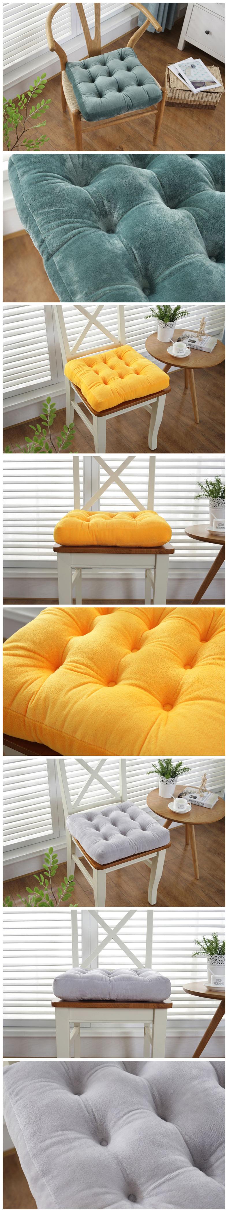 HTB1EvFRasfrK1Rjy1Xdq6yemFXan Thickening Anti-skid Cotton Chair Cushion Tatami Seat Pad Soft Office Chair Cushions Car Sit Mat Winter Cushion Throw Pillow