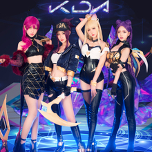 Anime Lol Original Evelynn Kaisa Akali Ahri Cosplay Costume KDA Women Outfit Sexy Clothes Sets For Halloween Birthday Party