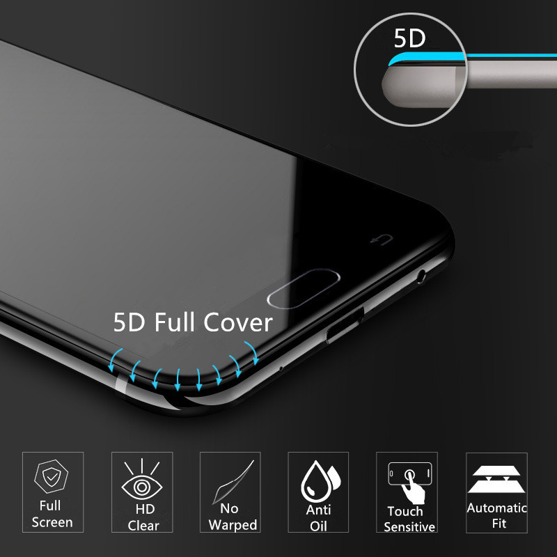 US $9 99  Allvcover 5D Tempered Glass Screen Protector For Samsung Galaxy  J7 Pro Glass Film Anti Scratch Protective Film For Samsung J7Pro-in Phone