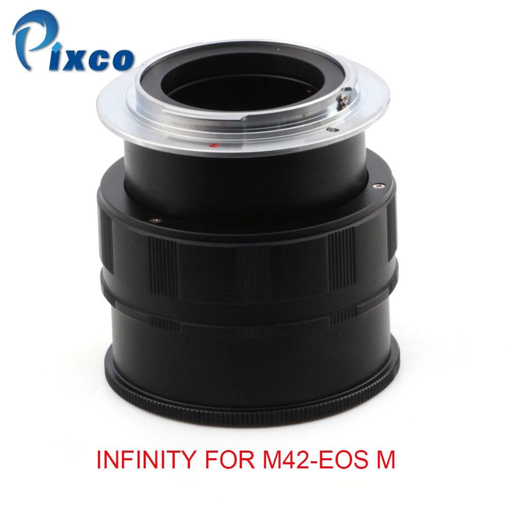 Pixco pour M42/EOSM adaptateur d'objectif Macro à l'infini réglable pour caméra M42 à Canon EOS M