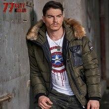 77City Killer Autumn Winter Long Parka Men Casual Slim Fit Hood Winter Jackets Mens Lovers Coat Cotton Windbreak Outwear P912