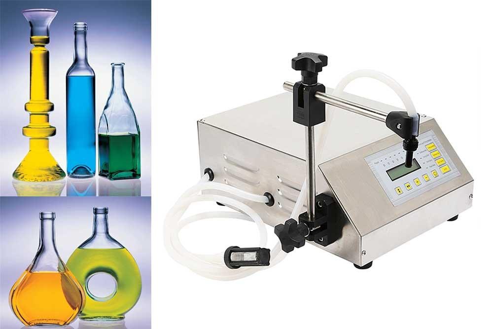 Digital control pump Manual bottle liquid filling machine for juice,Small Portable Electric Liquid Water Filling Machine small bottle filling machine