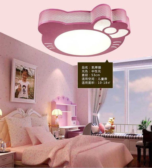 Awesome 24W 2.4G Remote Control Dimmable Hot Sales Modern Hello Kitty Led Ceiling  Lamp For Livingroom