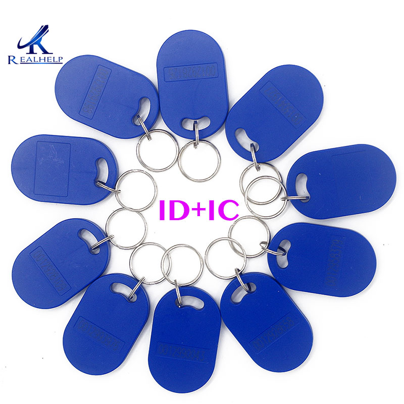 125KHZ RFID Tag Access Blue ABS Waterproof Key 13.56MHZ IC Read Only Key ABS Hotel Key  Non-Copy ID  IC Key Card Tags