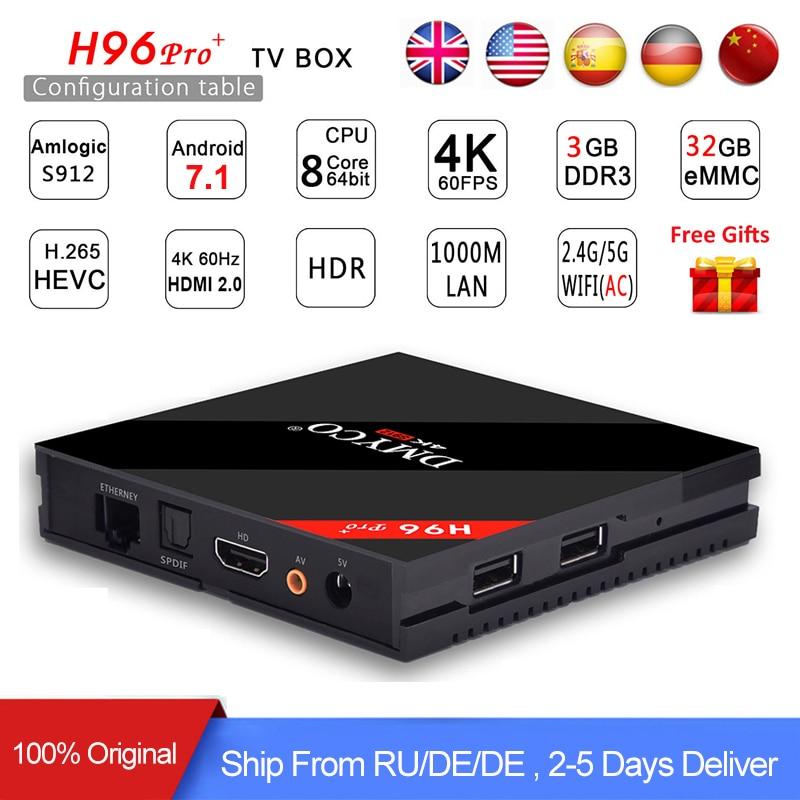 H96Pro H96 Pro Amlogic s912 Android Tv Box 7 1 RAM 3GB ROM 32GB 1000M LAN