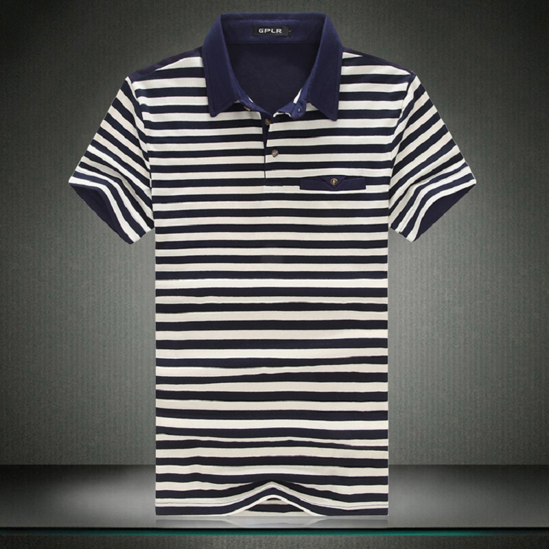 New 2018 summer smarty casual plus size 5xl classic stripe polo men short-sleeve men polo shirt casual cotton polos hombre /DPL4