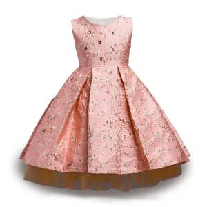 2020 Autumn Winter Dress for Girl Flower Bronzing Baby Dress For Wedding Kids Party Christmas Dress for Toddler Girls Clothes