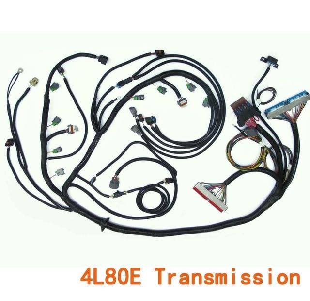 2006-2007 24x gen iv ls2 6 0 corvette standalone wiring harness w/4l80e  transmission