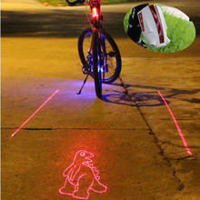 Nice 8 Patterns Bike Bicycle Intelligent Laser Rear Light 5 LED Tail Lamp 4 modes(China (Mainland))