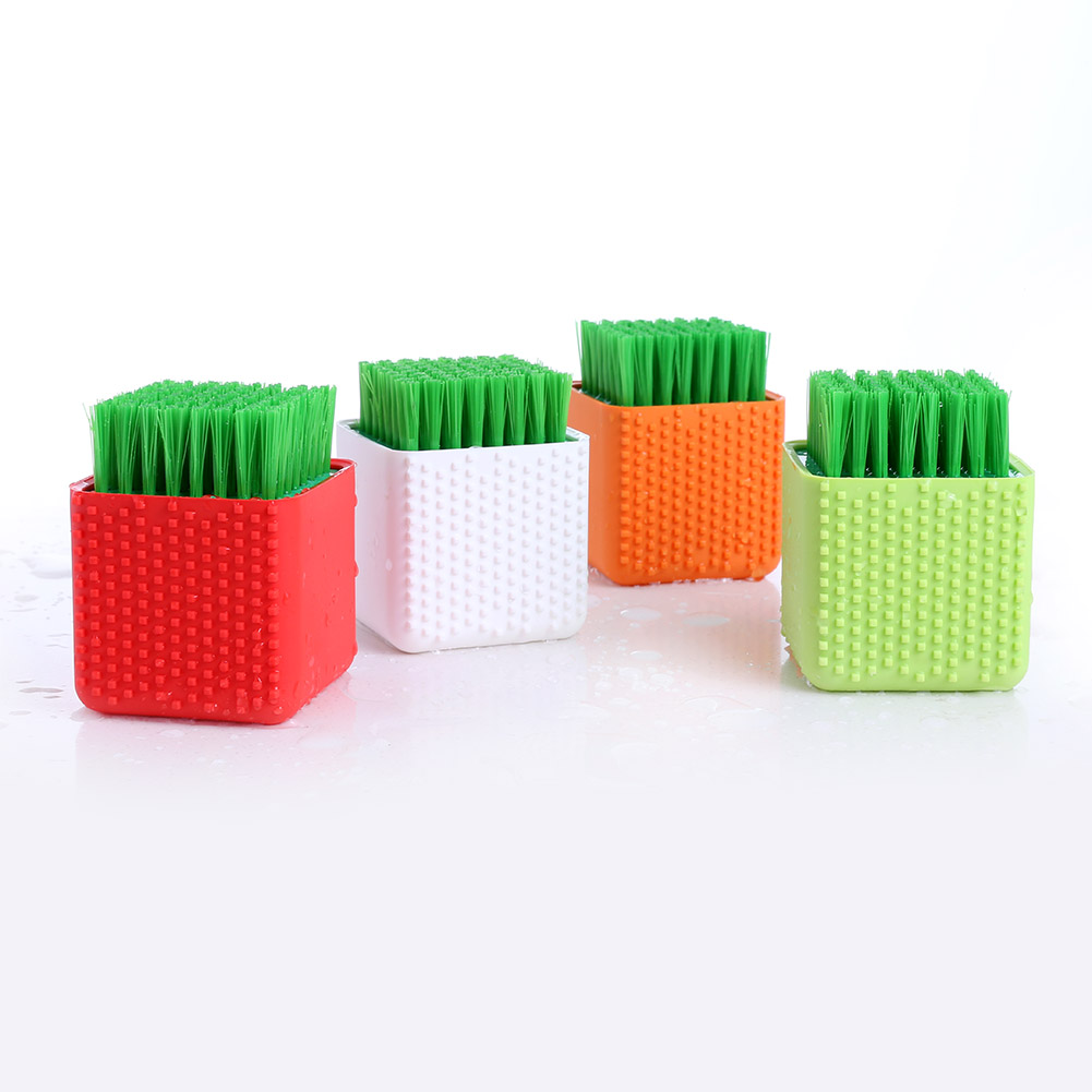 Silicone Cleaning Brush Washing Dish Bowl Brushes Clothes Cleaner Kitchen Tool 2017ing