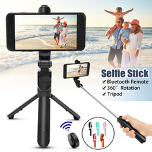 Bluetooth Selfie Stick Tripod Portable Wireless Control Monopod Handheld Mini Selfie Stick For iPhone Samsung Xiaomi Selfiestick