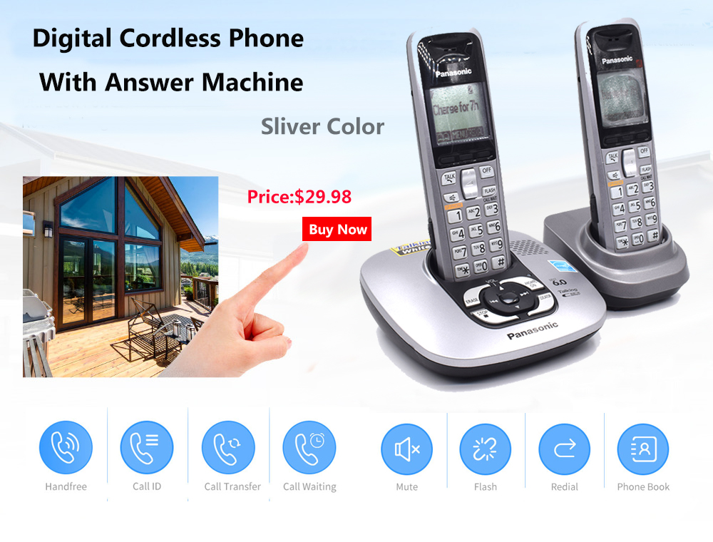 Digital Cordless Phone With Handfree Voice Mail Backlit LCD Fixed Wireless Telephone For Office Home Bussiness
