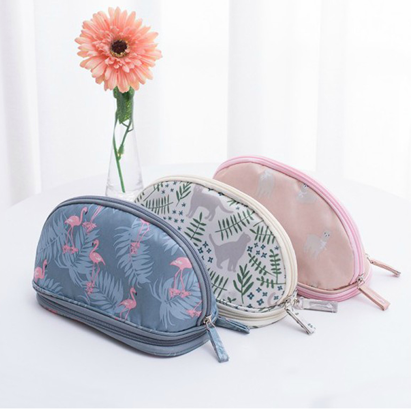 Bags Organizer Pouch Cosmetic-Bag Beauty-Case Travel Makeup Flamingo Waterproof Portable