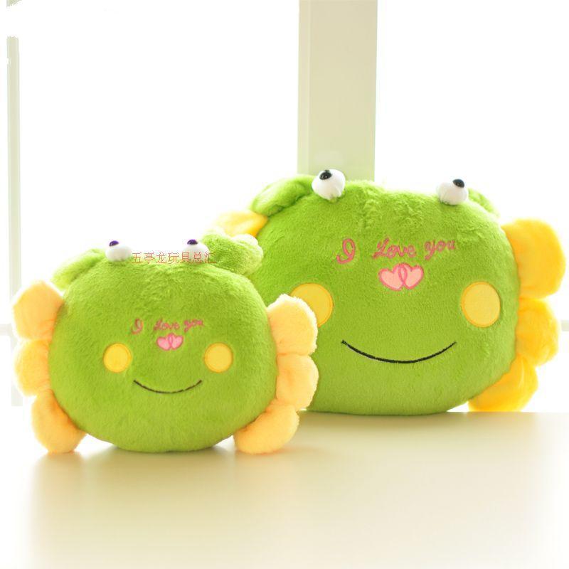 "stuffed animal plush 40cm green crab plush toy soft doll"" i love you "" crab  throw pillow gift t6175"